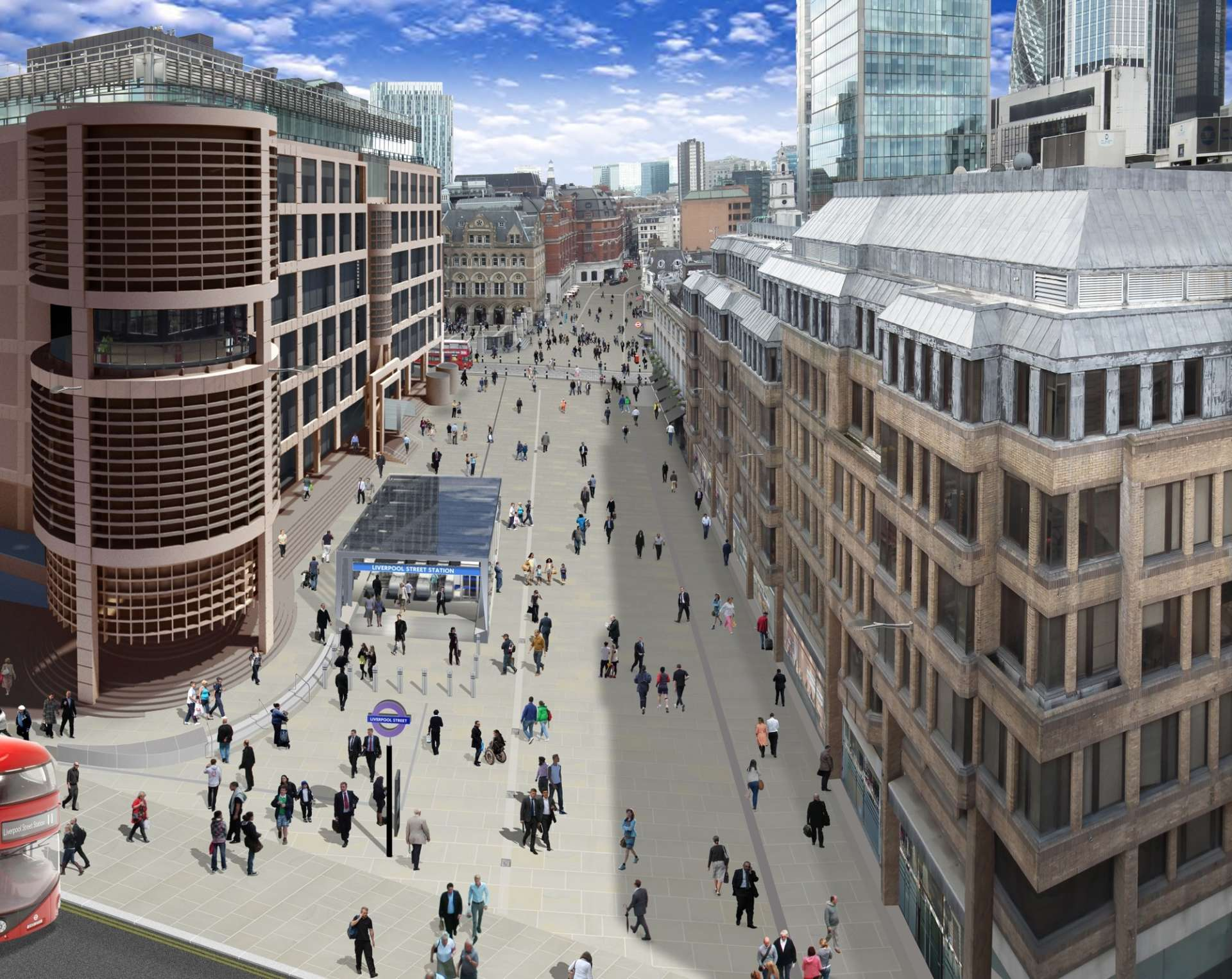 Crossrail Liverpool Street, Broadgate and Moorgate